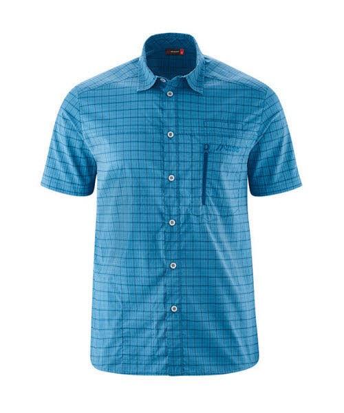Maier Sports Mats S/S blue check