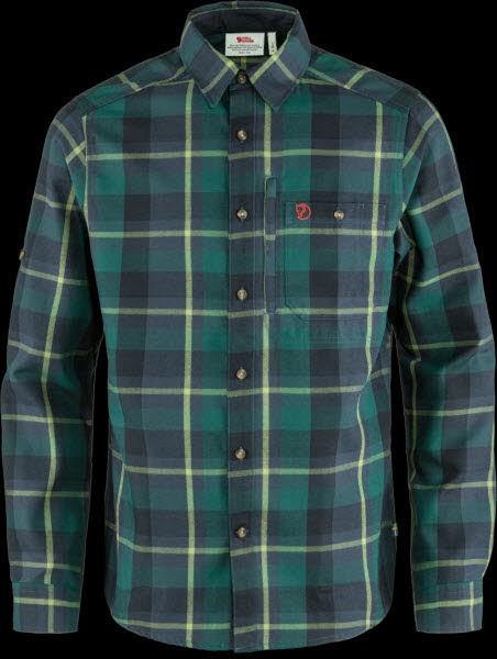 Fjäll Raven Fjaellraven Fjällglim Shirt M Arctic Green-Navy