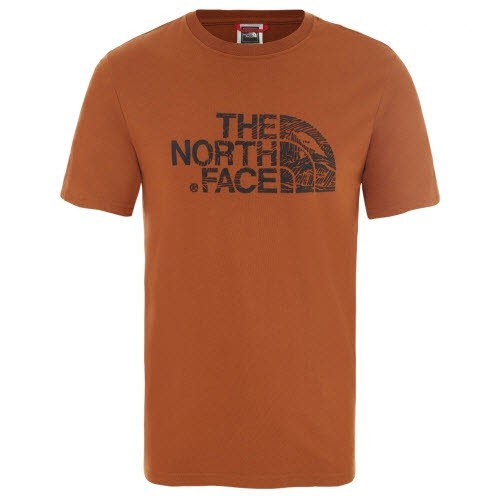 The North Face M S/S WOOD DOME TEE CARAMEL CAFE