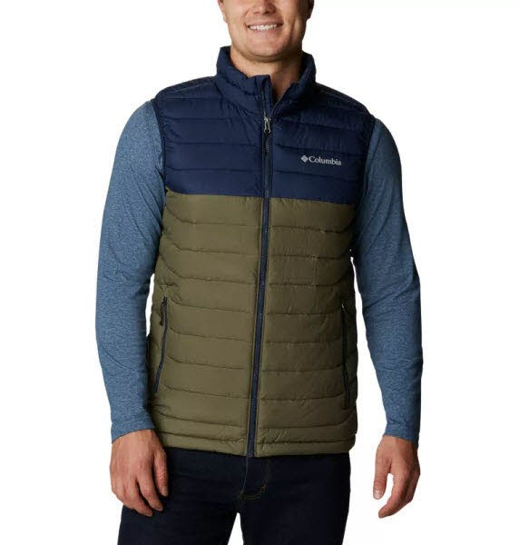 Columbia Powder Lite Vest Stone Green, Collegi