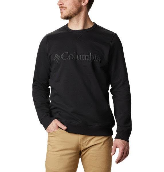 Columbia M Columbia Logo Fleece Crew Black, City Grey