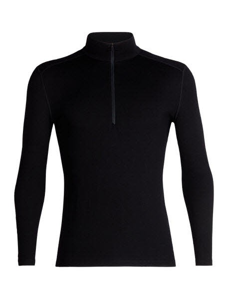 Icebreaker Mens 260 Tech LS Half Zip Black