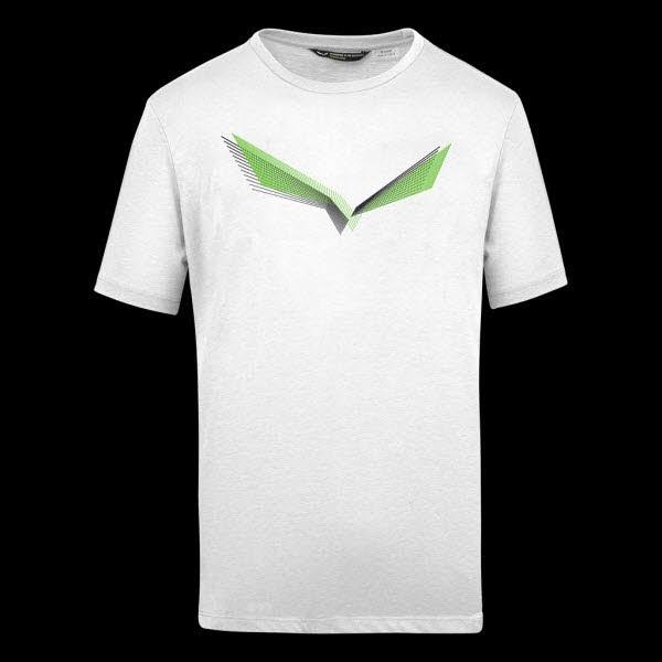 Salewa LINES GRAPHIC M T-SHIRT. optical white