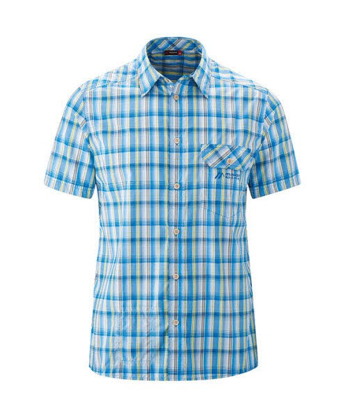 Maier Sports Lorensis S/S blue/yellow check