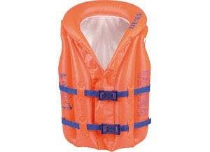 Schwimmlernhilfe Weste orange-blau