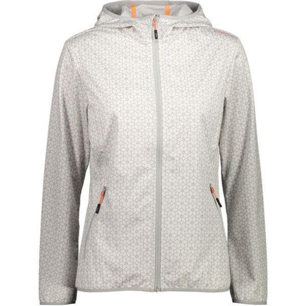 CMP WOMAN FIX HOOD JACKET BIANCO-STONE