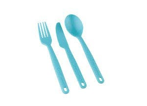 Camp Cutlery Set - 3pc Pacific Blue